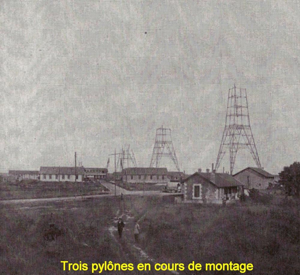 Figure 14 trois pylones en cours