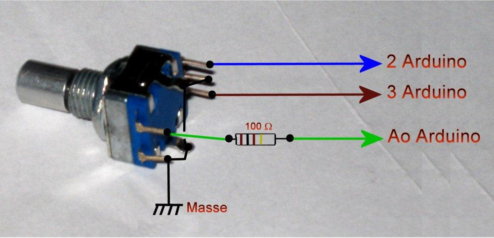 Figure 17 rotary switch encoder 12 mm with push button